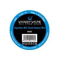 Vandy Vape Traat Superfine MTL Fused Clapton Ni80